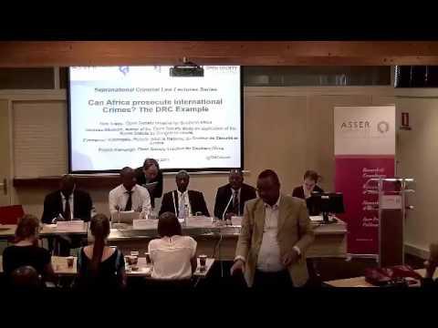 Supranational Criminal Law Lecture, 14 June 2017