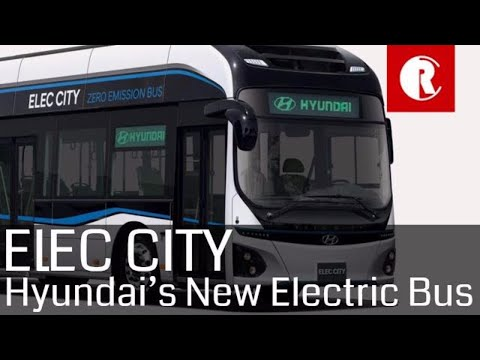 Hyundai's new Elec-City electric bus has 180 miles of range and fully charges in an hour