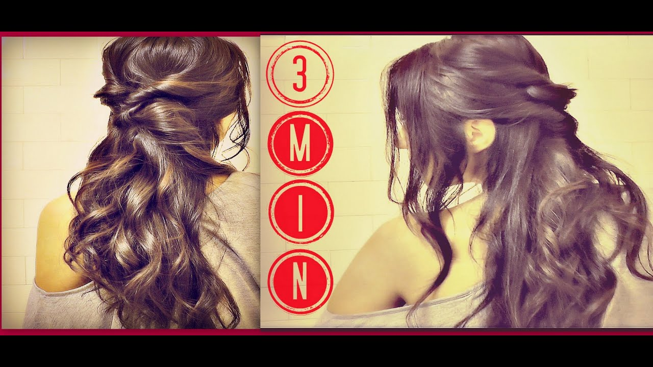 Easy Quick Hairstyles 21 easy quick hairstyles to save the day 3 Min Easy Quick Everyday Hairstyles Half Up With Curls Ponytail Updo For Long Hair Tutorial Youtube