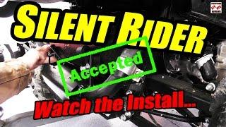 SILENT RIDER INSTALL and FIRST STEALTH REVIEW ATV UTV GATOR/RANGER SILENCER