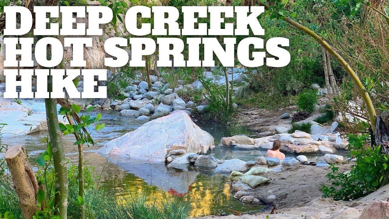 The Best Deep Creek Hot Springs Hike - HikingGuy.com Deep Creek Trail Map on
