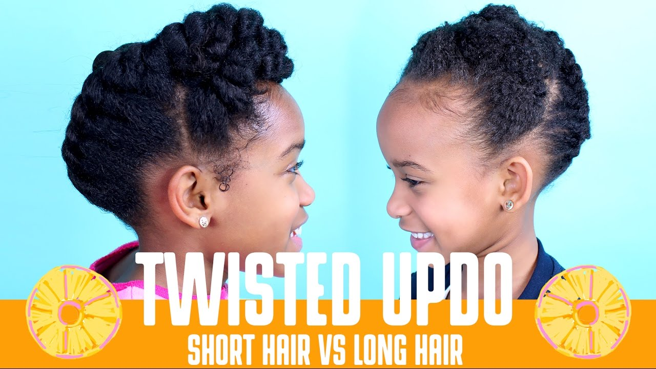 A Twisted Updo On Short 4c Hair Natural Kids Yolanda