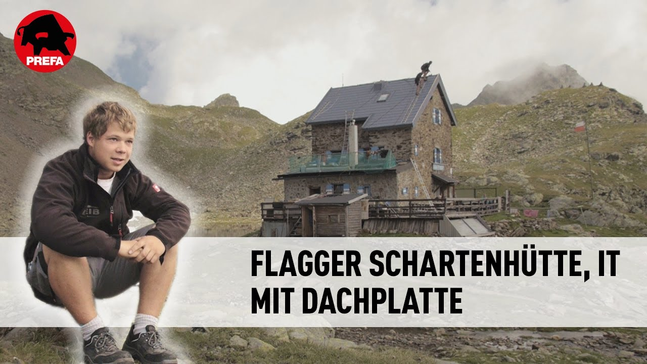 prefa neueindeckung der flagger schartenh tte in s dtirol youtube. Black Bedroom Furniture Sets. Home Design Ideas