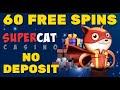 60 Free Spins at SuperCat Casino   No Deposit Bonus   Best Casino Promotions 2021