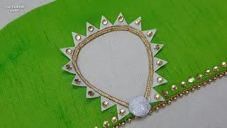 Half baju का बेहद सुन्दर डिज़ाइन जो कुर्ती या ब्लॉउस के लूक को बढ़ा देगी