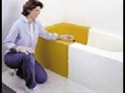 Como pintar una tina de bano muy facil buen tip doovi - Como pintar una banera ...