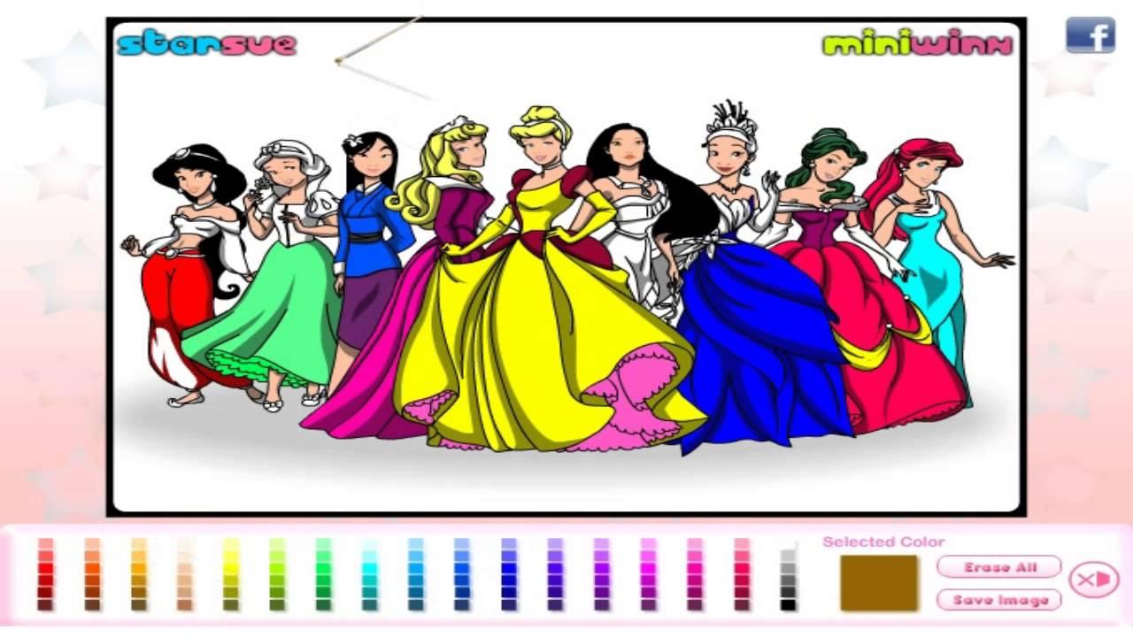 Pintando As Princesas Da Disney Jogo The Painting Princesses