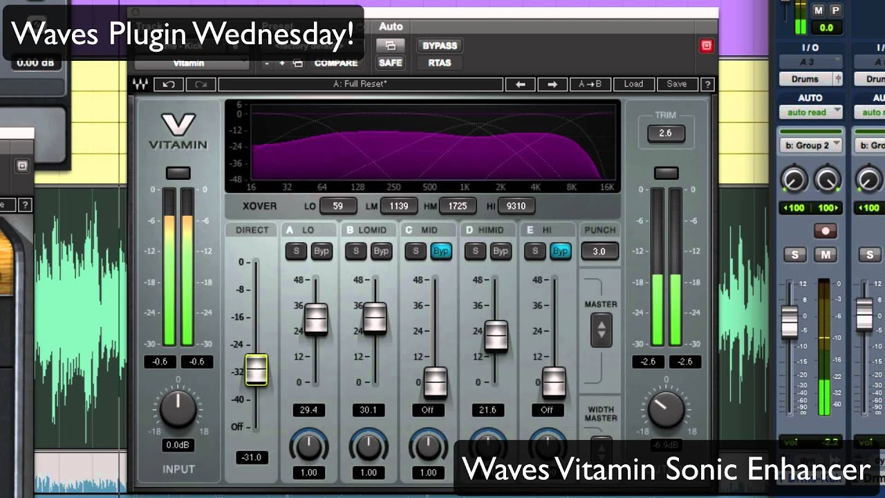Waves Vitamin Sonic Enhancer - Waves Plugin Wednesday!