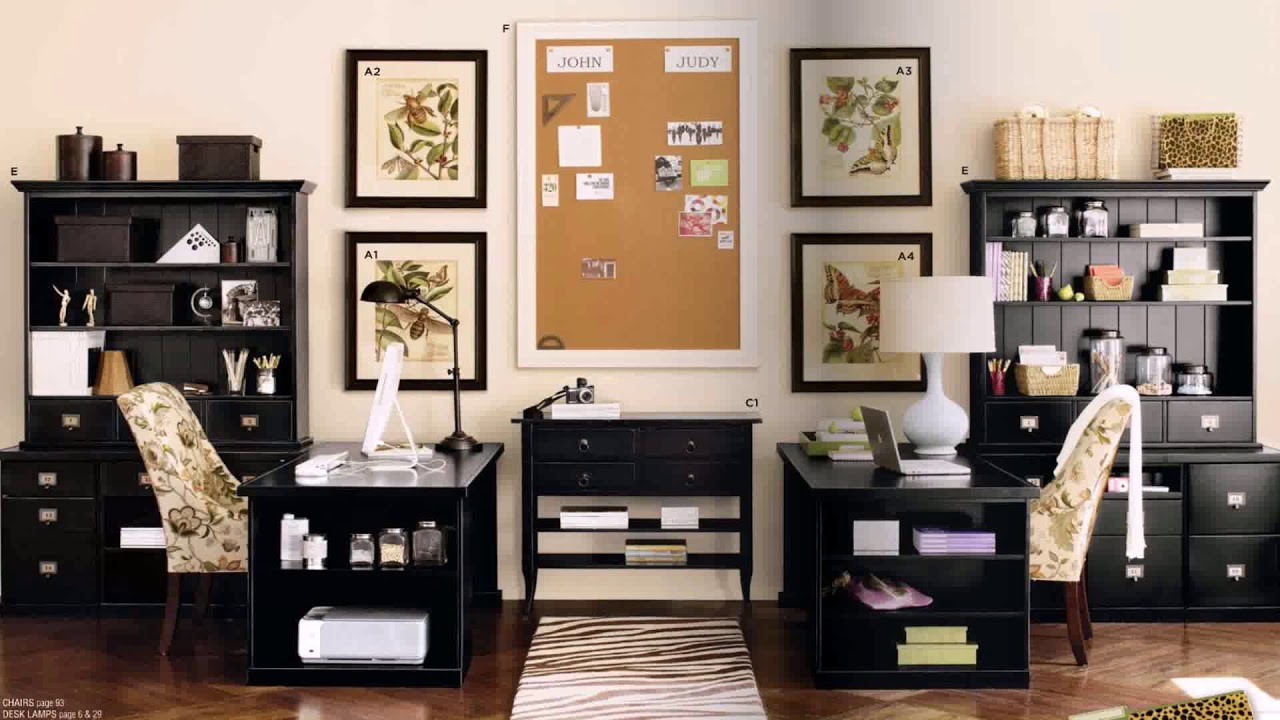 Home Office Design With Two Desks See