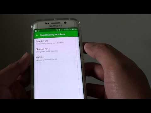Samsung Galaxy S6 Edge: How to Enable / Disable Fix Dialing Number