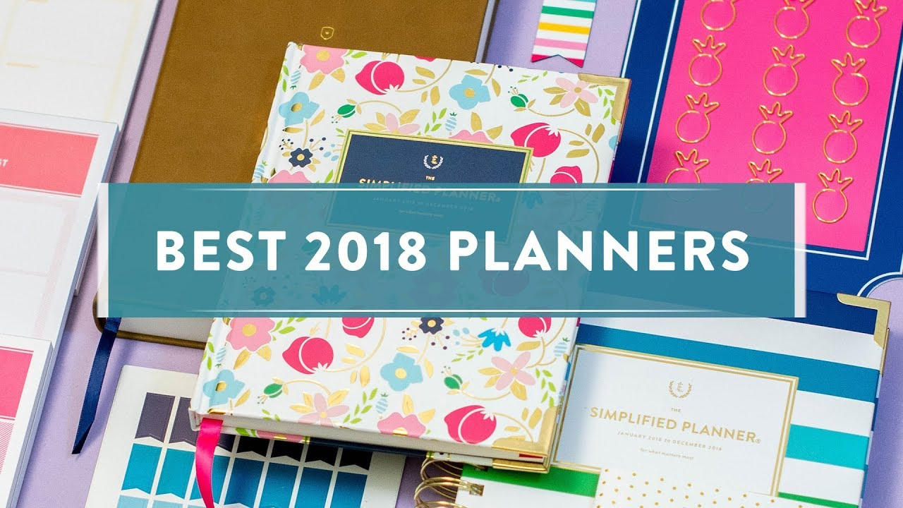best 2018 planners youtube