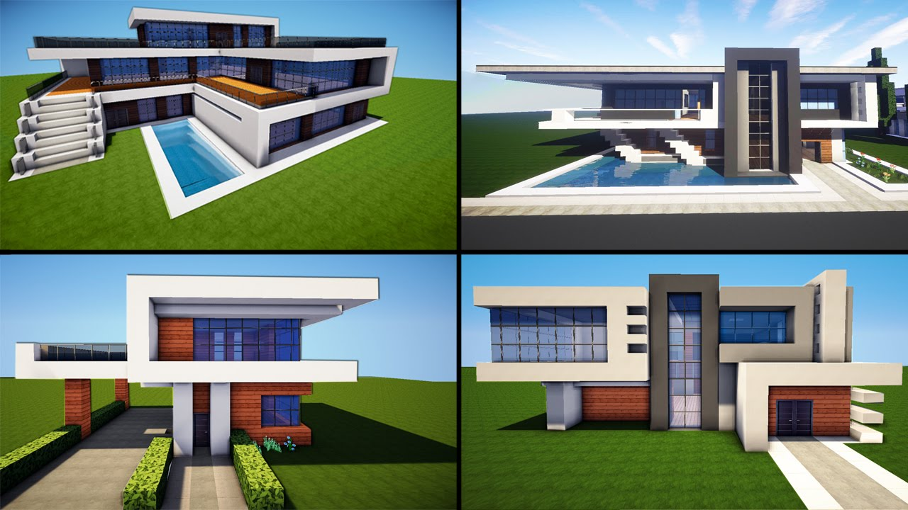 Minecraft 30 awesome modern house ideas tutorial for Cool ideas for building a house