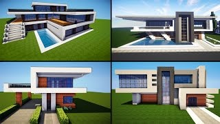 minecraft houses modern build awesome tutorial wiederdude