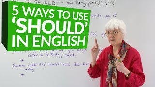 5 ways to use 'SHOULD' in English