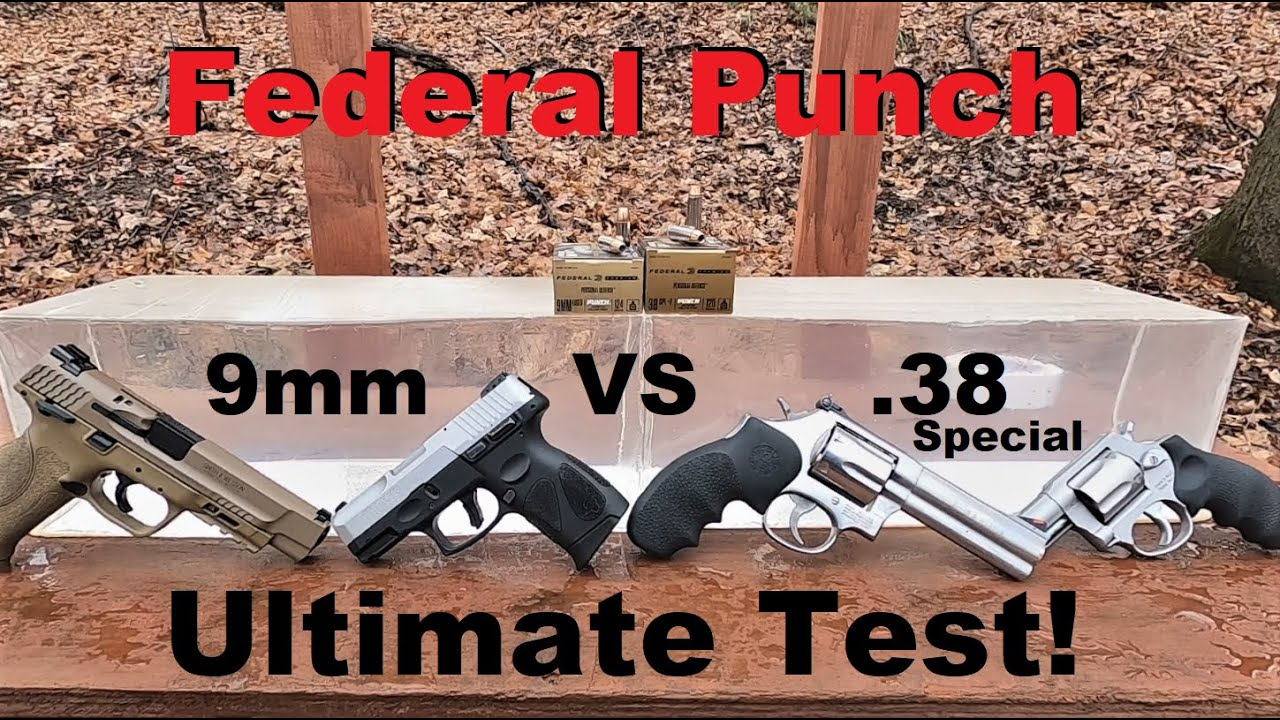 Federal Punch 9mm VS .38 Special ULTIMATE Test
