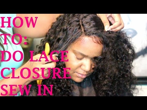 HOW TO DO FULL SEW IN WITH LACE CLOSURE ELASTIC BAND