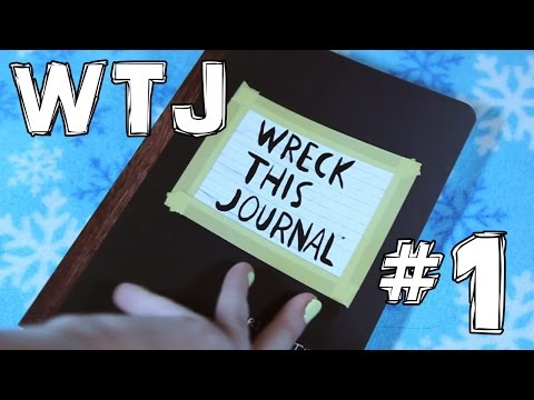 WTJ #1 // WRECK THIS JOURNAL // УНИЧТОЖЬ МЕНЯ! Оформляем анкету и царапаем страницы