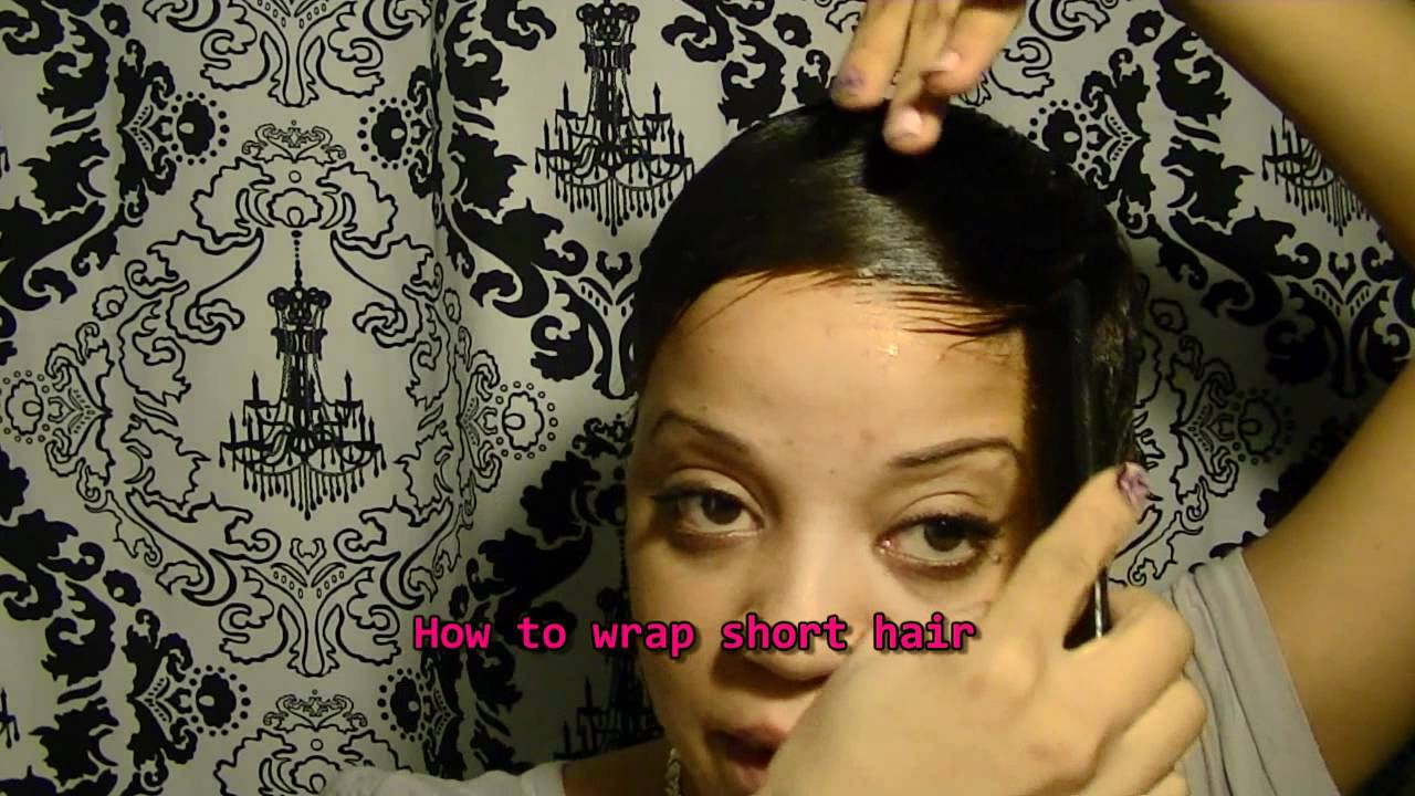 wrapping short hair