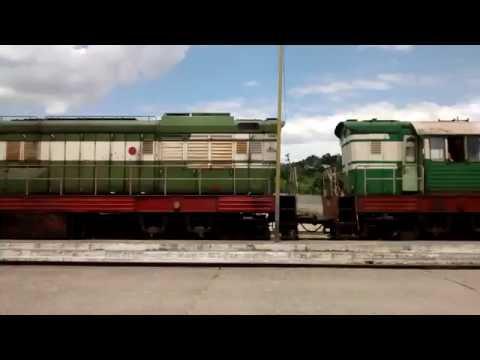 Albanian train trip from Durrës to Rrogozhinë