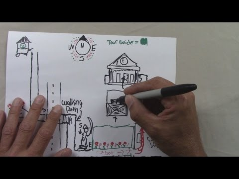 Tourist Booth Drawn Directions ▻Map Drawing ASMR - YouTube on