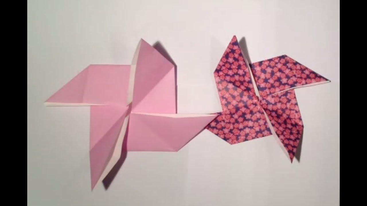 Très Faire un moulin en origami - Pliage petit moulin - YouTube YZ49