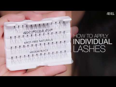 4270dbc4809 How to Apply Individual Lashes - YouTube