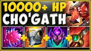 ACHIEVE MAX POSSIBLE TRUE DMG BURST WITH MAX HEALTH CHO'GATH! - League of Legends Season 10 Gameplay