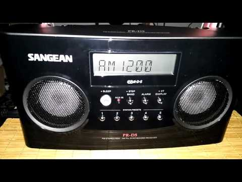 Sangean PR-D5 - AM/MW DX of News Radio 1200 WOAI on 1200 kHz from San Antonio, Texas
