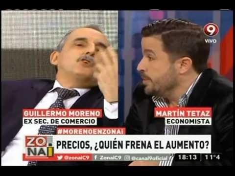Guillermo Moreno insultó a un economista y lo invitó a pelear