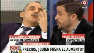 Guillermo Moreno  Sos un idiota   Noticias tl9   Canal 9