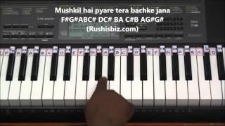 Yeh Mera Dil Yaar Ka Deewana Piano Tutorials (DON Movie)