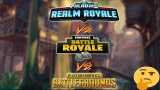 Realm Royale VS Fortnite VS Pubg | 12 kills Gameplay