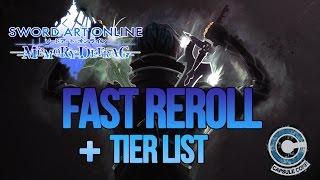 FAST REROLL & TIER LIST | SWORD ART ONLINE: MEMORY DEFRAG | TUTO FR (android)
