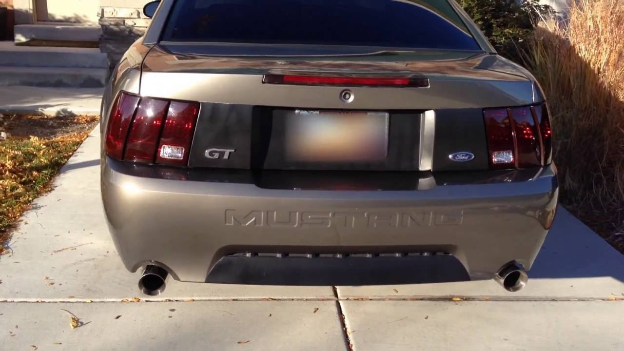 2002 Mustang Gt Stock Exhaust Vs Slp Loudmouth Youtube