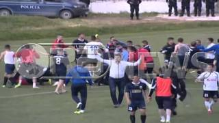 Dhunë gjatë ndeshjes Pogradeci - Luftëtari