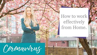 My 5 top tips on working effectively from home