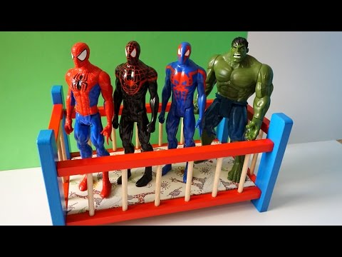 Thumbnail: Super Heros Spider Jumping on the Bed - TOP Nursery Rhyme Song Compilation