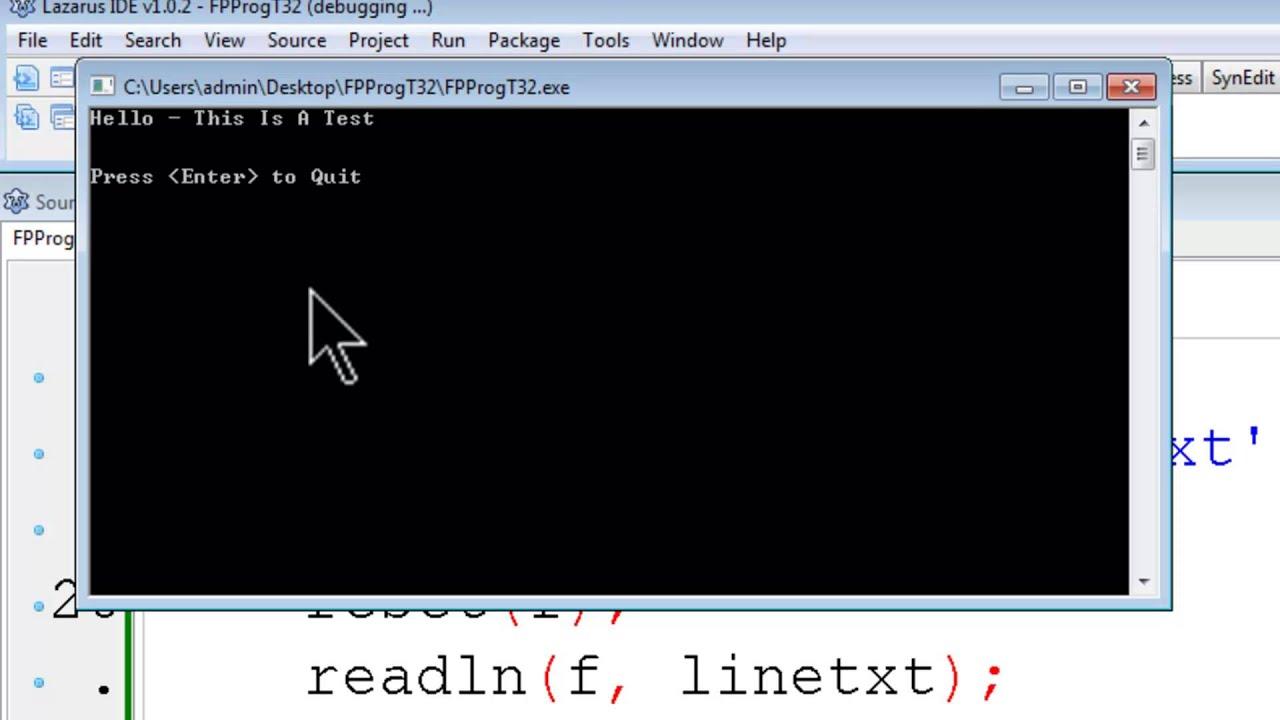 Free Pascal Lazarus Program Tutorial 32 - Reading Text Files