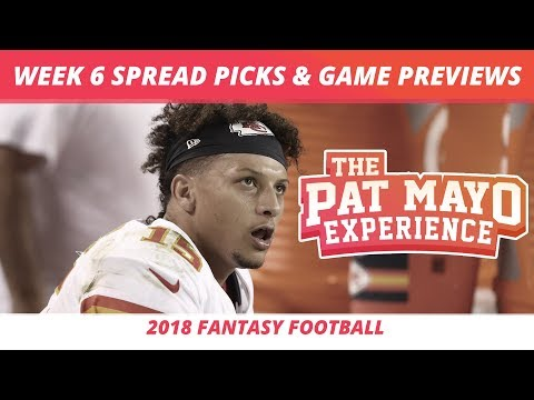 2018 Fantasy Football — Week 6 Spread Picks, NFL Game Previews, And Matchups