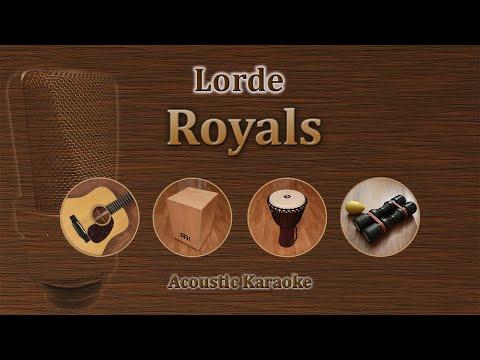 Royals - Lorde (Acoustic Karaoke)