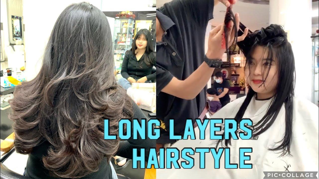 LONG LAYER HAIRCUT | CARA MUDAH POTONG RAMBUT LAYER | how to cut layers | Long haircut women haircut