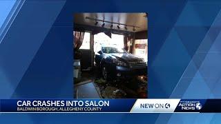 Vehicle crashes into salon in Baldwin Borough