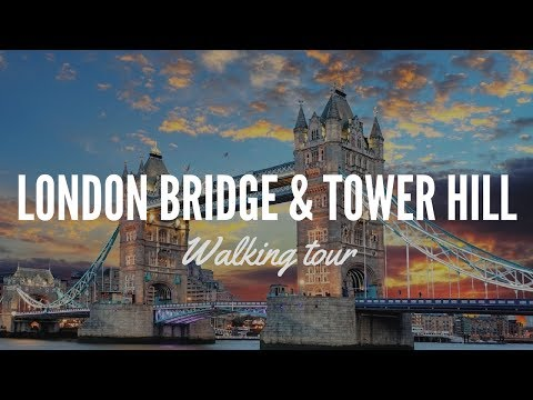 Walking London Tower hill and Tower Bridge