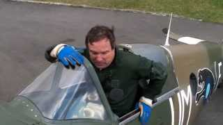 First flight Spitfire MK19 . April 2010.