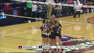 RMU vs DUQ: Volleyball Highlights