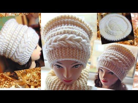 Красива шапка спицями.Супер шапка.Beautiful Hat With Knitting Needles