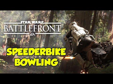 Luke Skywalker Vs. Speederbike! Meeting The Turkey Man. Star Wars Battlefront.