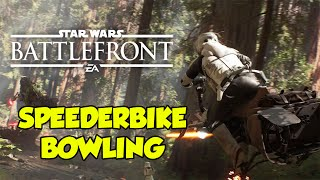 Luke Skywalker Vs. Speederbike! Meeting The Turkey Man. Star Wars Battlefront.