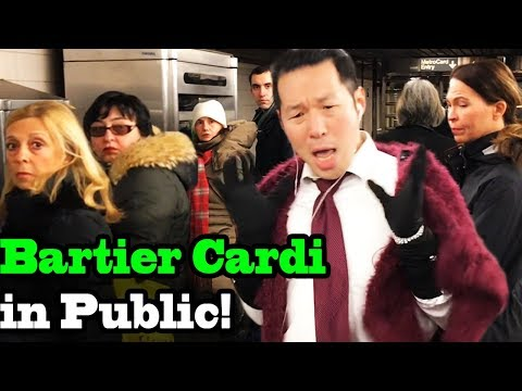 "CARDI B - ""Bartier Cardi"" - SINGING IN PUBLIC!!"