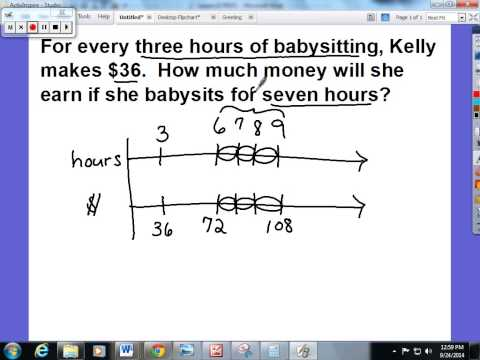 Lesson 12 From Ratio Tables to Double Number LIne Diagrams - YouTube